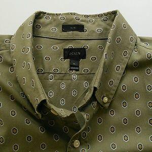 J.Crew Slim XL medallion print oxford shirt